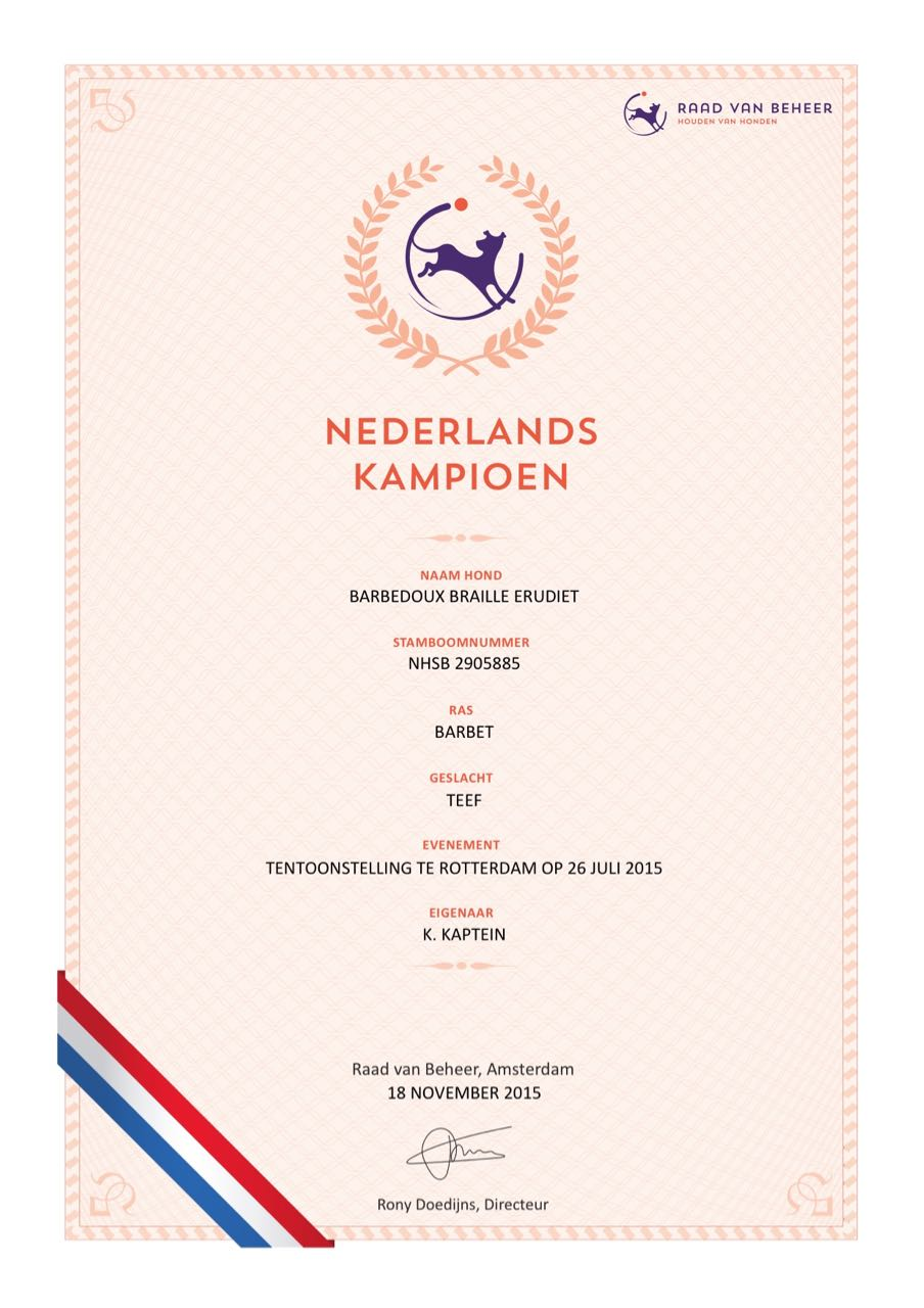Nederlands Kampioen Distel